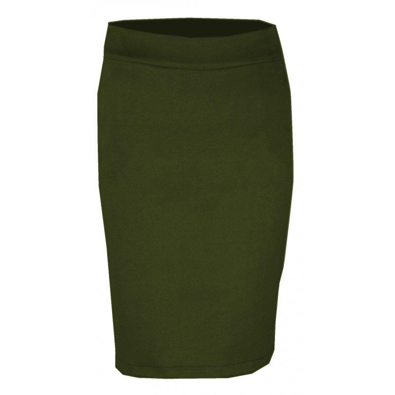 Ołówkowa Spódnica z Ekozamszu DUŻY ROZMIAR- zielona