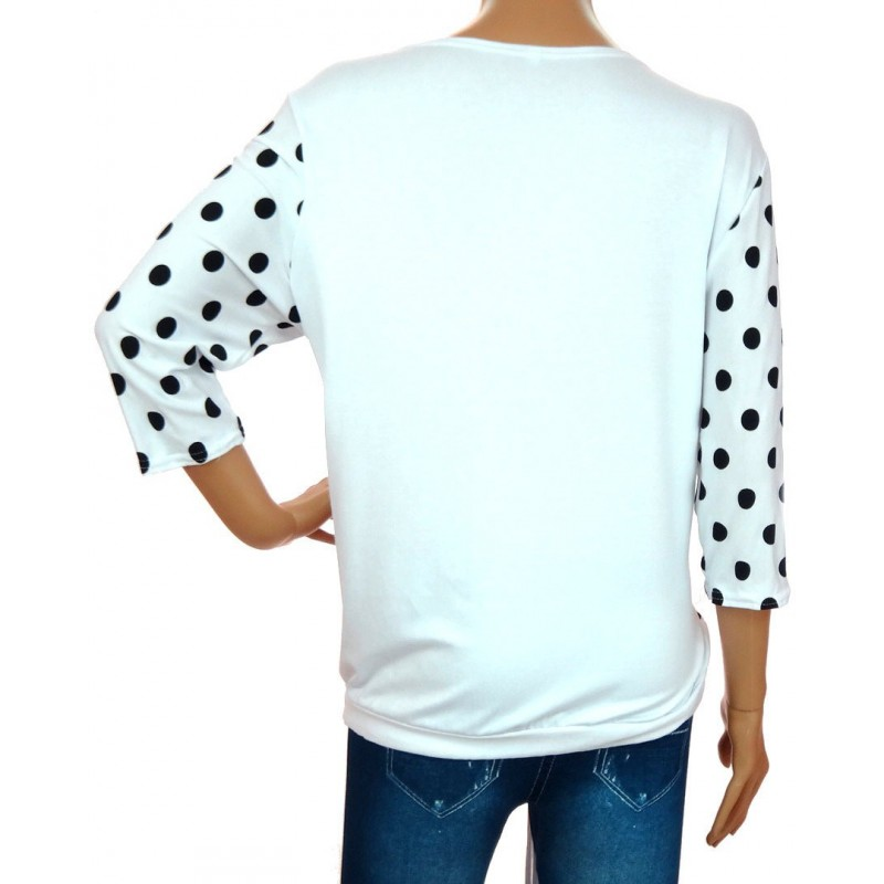 Bluzka w kropki (biała)