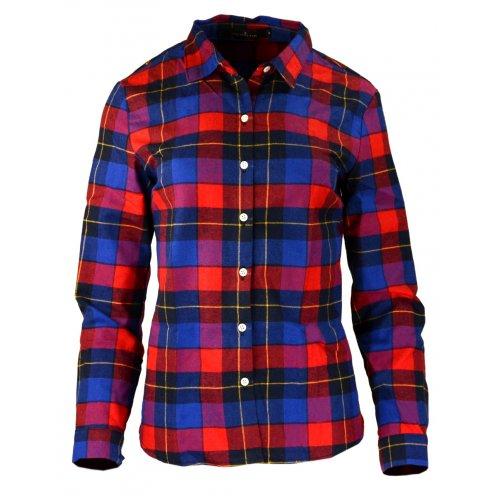 Damska koszula flanelowa CZERWONO-NIEBIESKA