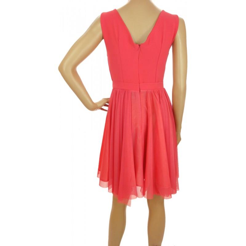 Sukienka z tiulem (koral1)