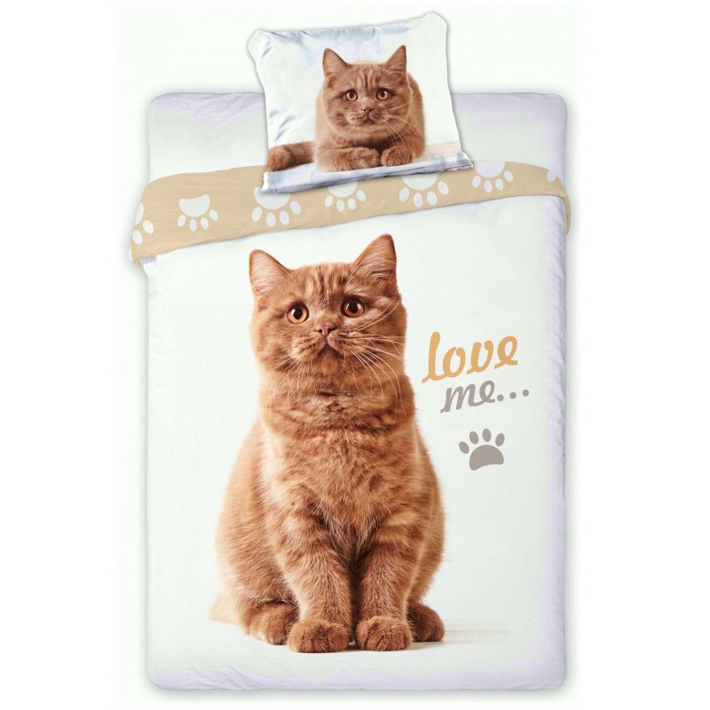 Pościel z kotami 3D 160x200 RUDY KOT Best Friends 006 Pościel dla dzieci w kotki