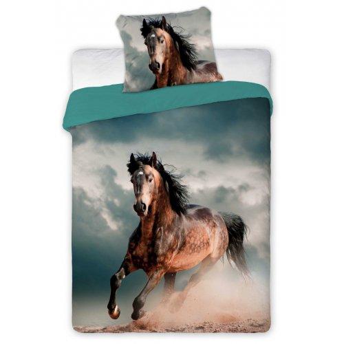 Pościel z koniem 3D 160x200 BRĄZOWY KOŃ Best Friends 005 Pościel dziecięca konie