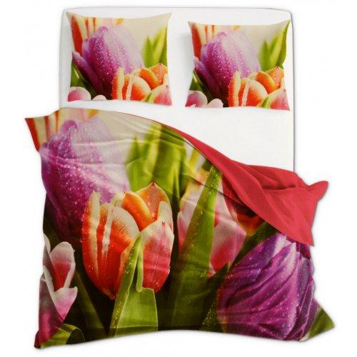 Komplet Pościeli 160x200 Kwiaty Flori 3D 005