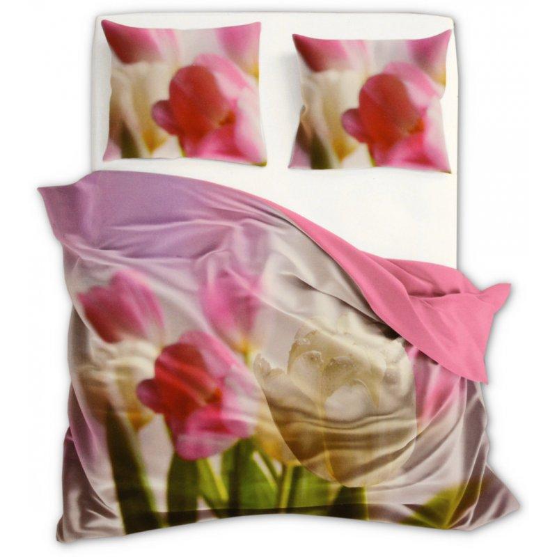 Komplet Pościeli 220x200 Kwiaty Flori 3D 002