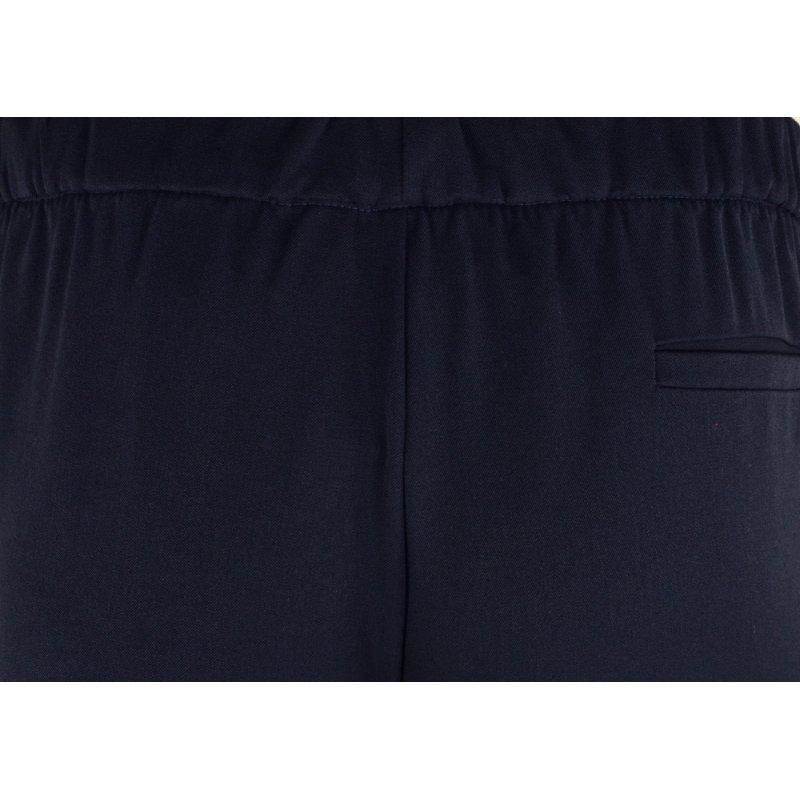 Damskie spodnie CYGARETKI  z lampasem (granatowe)