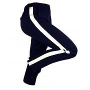 Damskie spodnie CYGARETKI z lampasem (granatowe1)