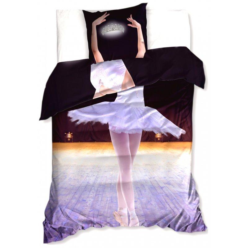 Pościel 3D 140x200 Baletnica z koroną NL183011