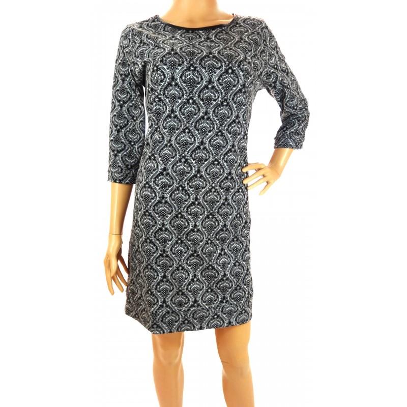 Sukienka wzorzysta (szara)