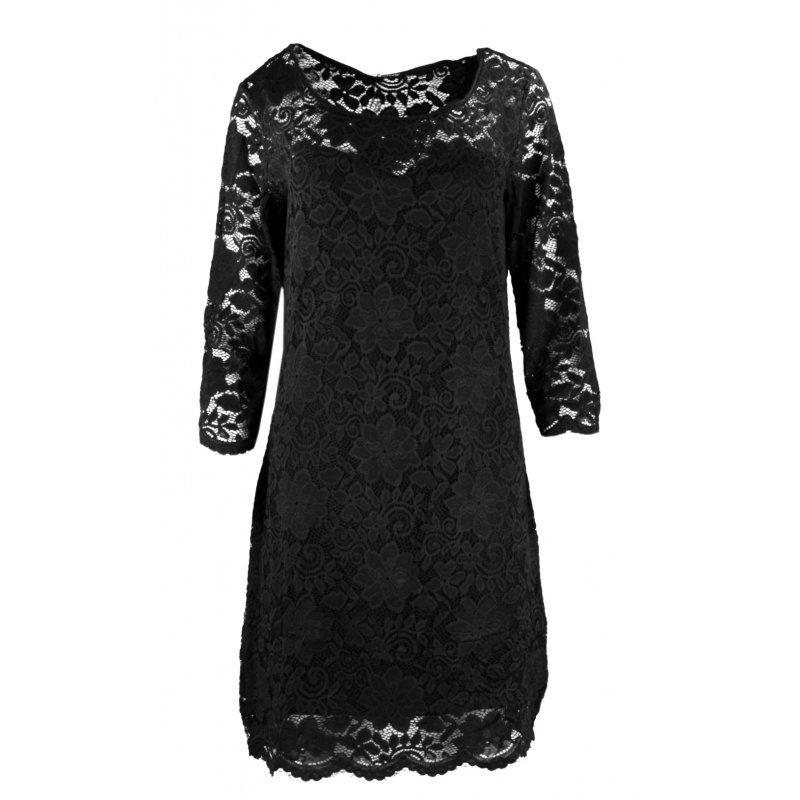 Koronkowa sukienka ołówkowa DUŻY ROZMIAR - czarna