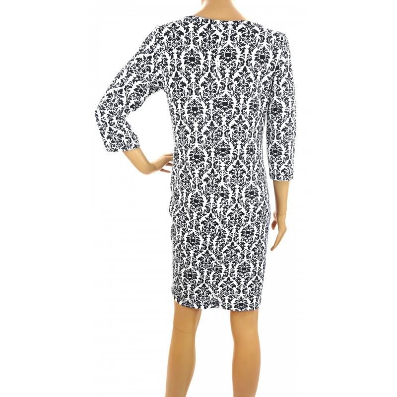 Sukienka wzorzysta (czarna)