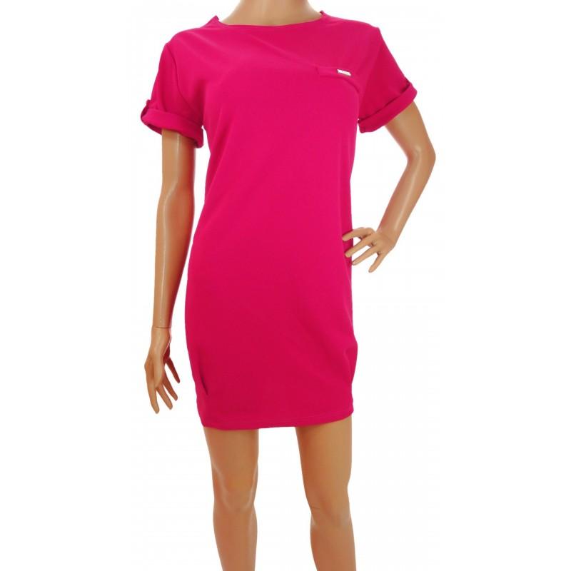 Luźna sukienka (amarant)