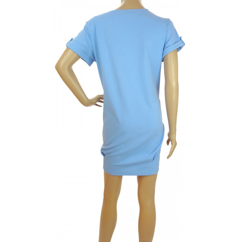 Luźna sukienka (błękit)