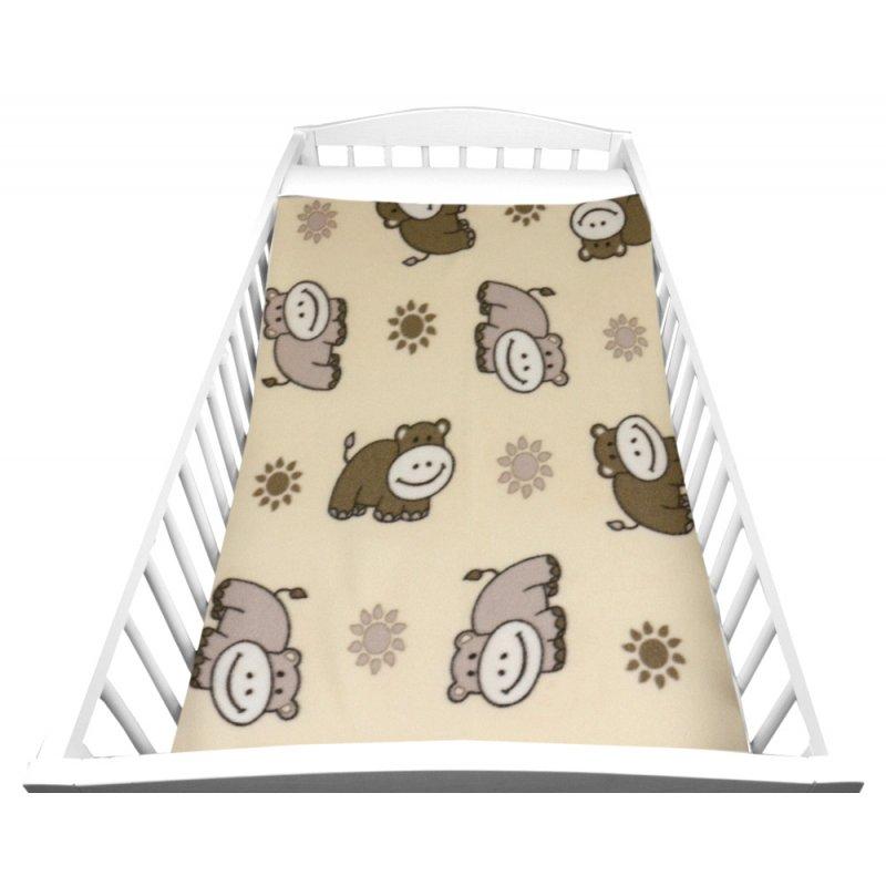 jasny Kocyk DZIECIĘCY polarowy 80x90 OSIOŁKI Kocyk Dziecięcy Kocyk Niemowlęcy Kocyk dla Niemowlaka Kocyk dla Dziecka do Łóżeczka
