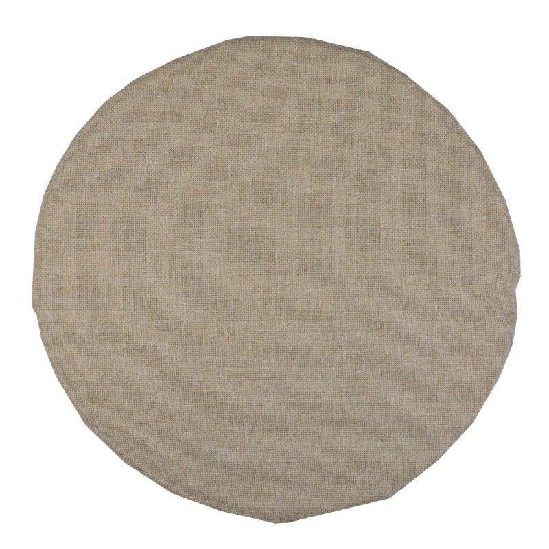 Okrągła poduszka na taboret 35 cm (jasny beż)