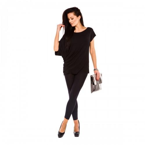 Bluzka asymetryczna ST/VK 5002 czarna
