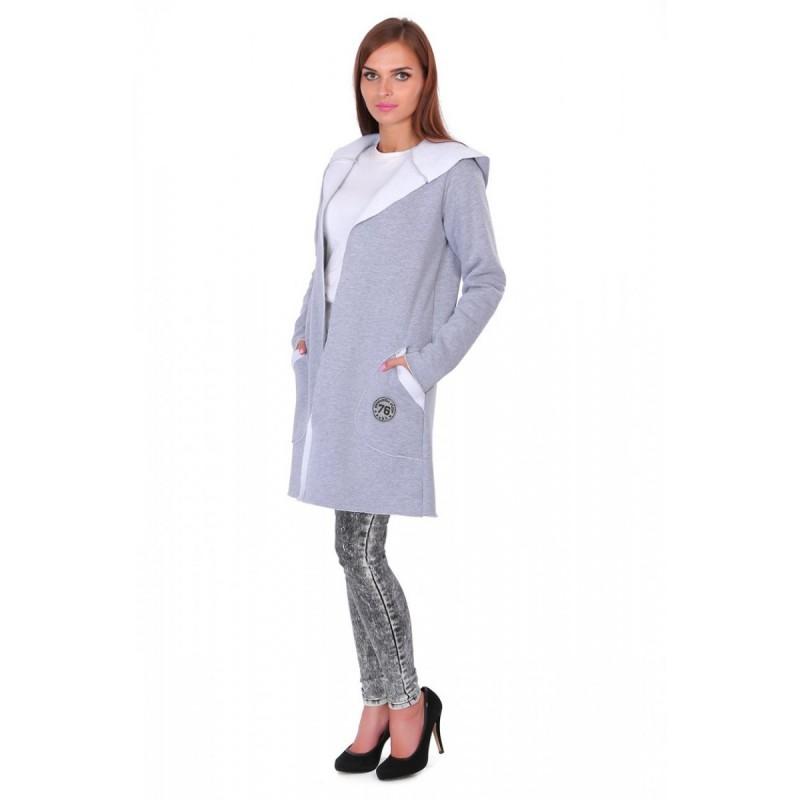 Bluza płaszczyk ST/VK 1414 szary multikolor