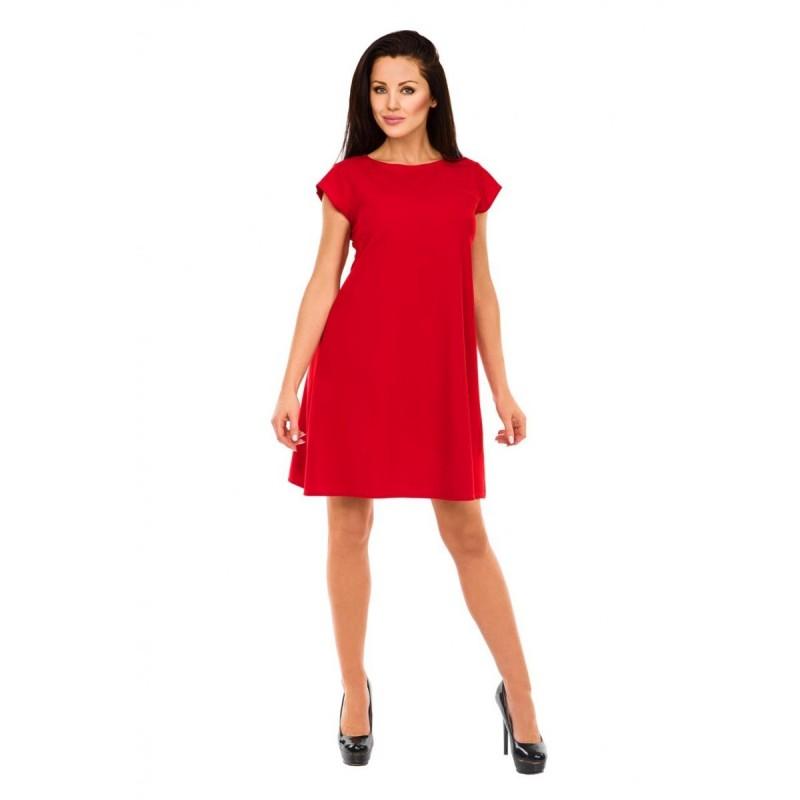 Klasyczna sukienka ST/VK 1456 czerwona