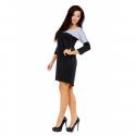 Sukienka dwukolorowa ST/VK 1346 czarna
