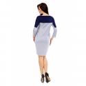 Sukienka dwukolorowa ST/VK 1346 szara